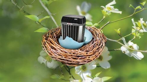 Trane Condenser in Nest